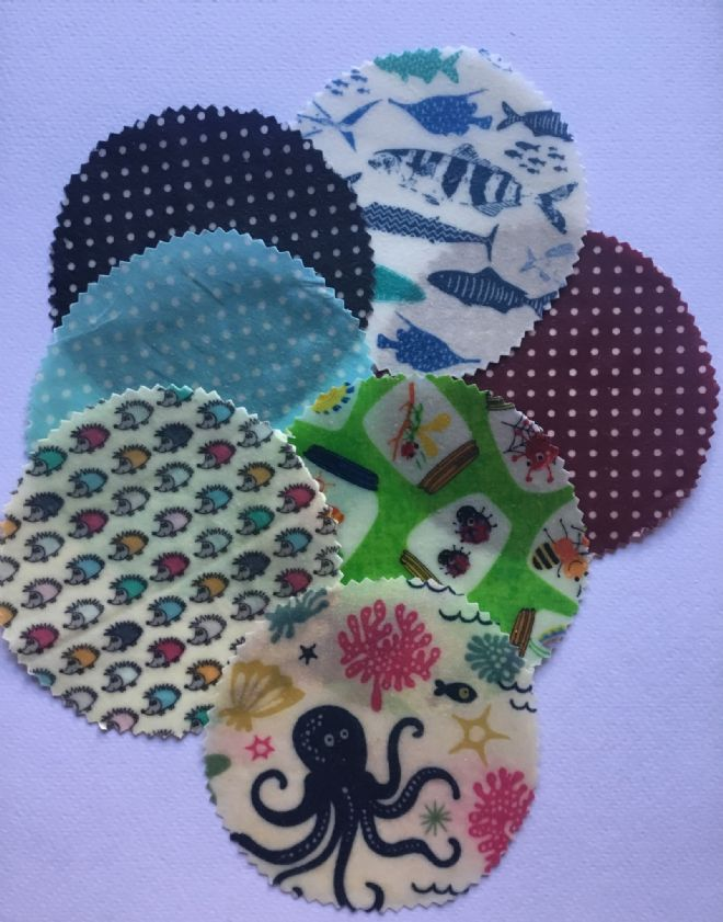 Jar Covers -  mixed set of 5